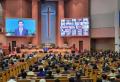 24일 20% 좌석을 채운 가운데 드려진 예배 모습. ⓒ여의도순복음교회