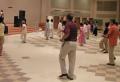 에어로빅 댄스로 건강비결을 배우는 실버대학생들.