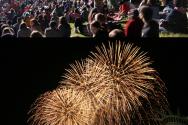 군중들의 염원을 담은 불꽃은 음악과 어울어져 시애틀 밤 하늘을 수 놓았다ⓒ김브라이언 기자
