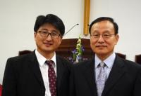 양재동 목사(오른쪽)와 권오병 목사(왼쪽)
