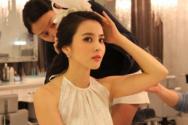 한혜진이 과거 온라인 게시판에 올렸던 신부화장 모습.