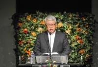 새생명교회에서 부흥사경회를 인도하는 이동원 목사