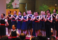 극동방송어린이합창단 지난 애틀랜타 공연 모습.