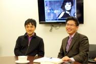 김동민 음악감독(왼쪽)과 류응렬 목사(오른쪽)가 3월 20일 와싱톤중앙장로교회에서 공연 취지를 설명했다.