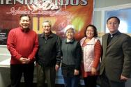 굿스푼 관계자들과 함께한 박용두 사장(맨 왼쪽), 맨 오른쪽이 굿스푼 대표 김재억 목사.