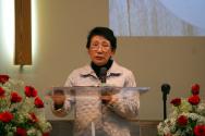 백삼숙 선교사가 4월 9일 버지니아제일침례교회에서 간증을 전했다.