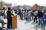 볼티모어 도시선교센터가 4월 19일 이스라엘 침례교회 주차장에서 부활절 블록파티를 열었다.