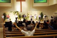 새누리 교회, 창립후 첫 수요찬양예배 드려