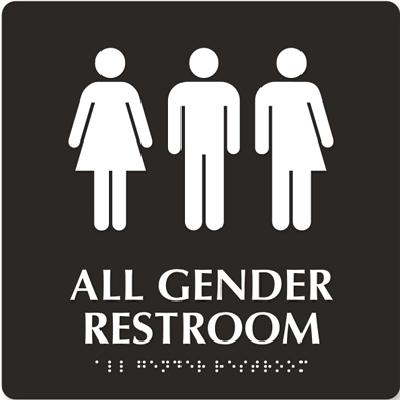 ▲미국 캘리포니아주에 설치된 '성중립 화장실' 표시